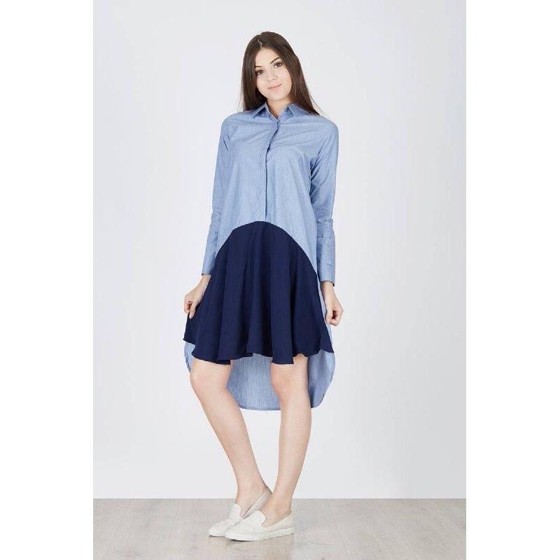 Nilla Shirt Dress Blue