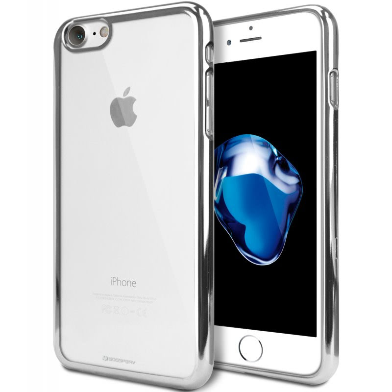 Goospery Ring 2 Jelly for iPhone 7 - Silver