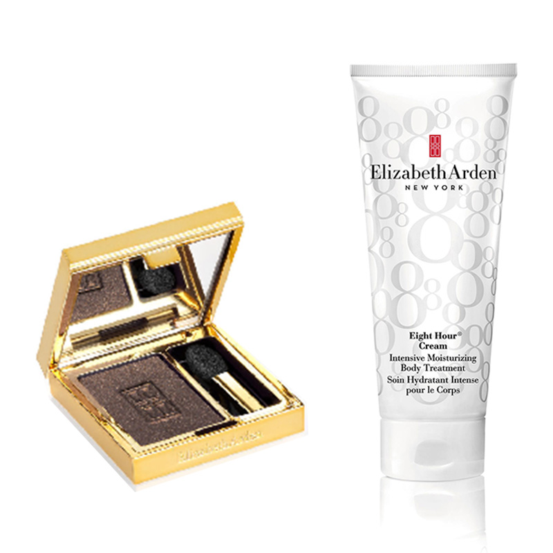 Elizabeth Arden Beautiful Color Eyeshadow single Sparkling Sable +Eight Hour Body Intensive Cream