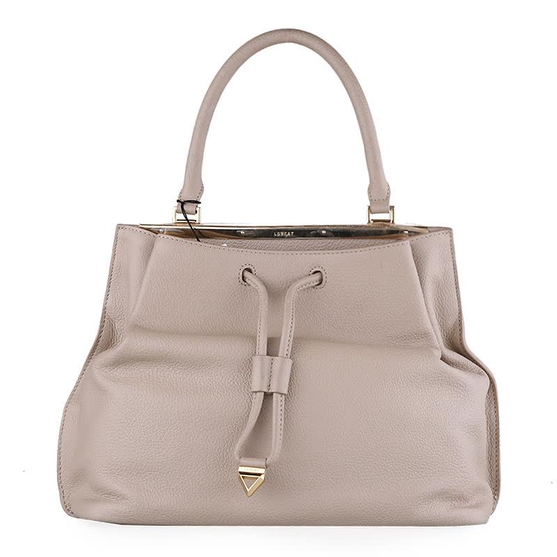 Lovcat - Leather Tote Bag Beige