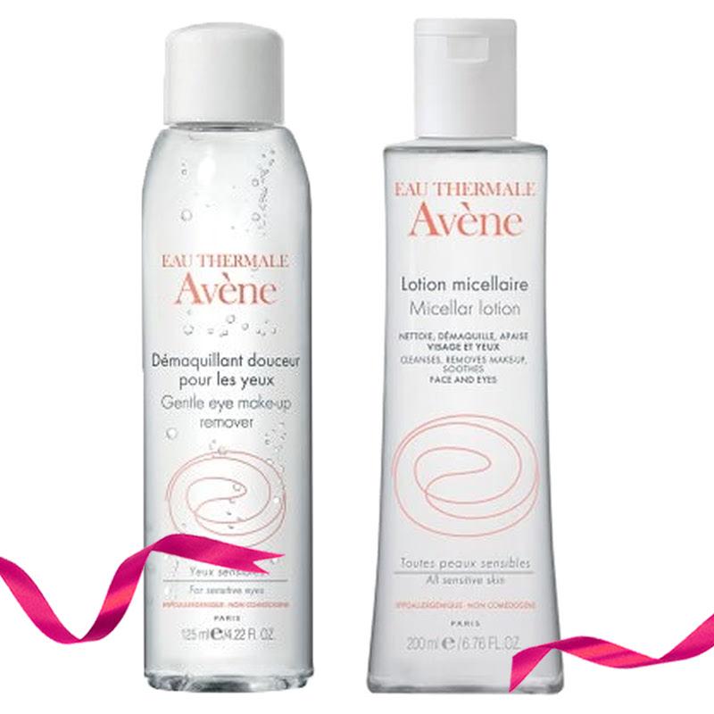 Avene Gentle Eye Make Up Remover Essential Care 125 ml + Avene Micellar Lotion Essential Care 200 ml