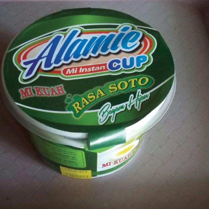 Alamie - Mie Instant Cup Kuah Soto Bayam Hijau (5 Pack)
