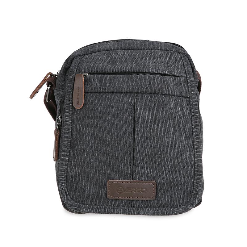 ATVERSO Canvas Shoulder Bag Black