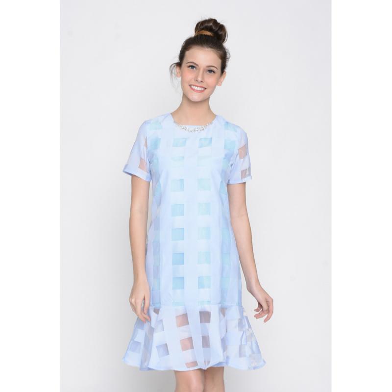 Agatha Strape Blue Dress Blue
