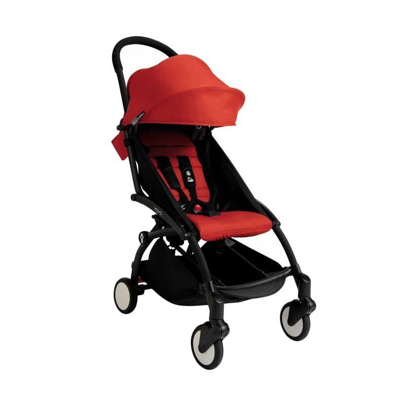 Babyzen Yoyo Stroller + Frame Black Kereta Dorong Bayi [6+] Red