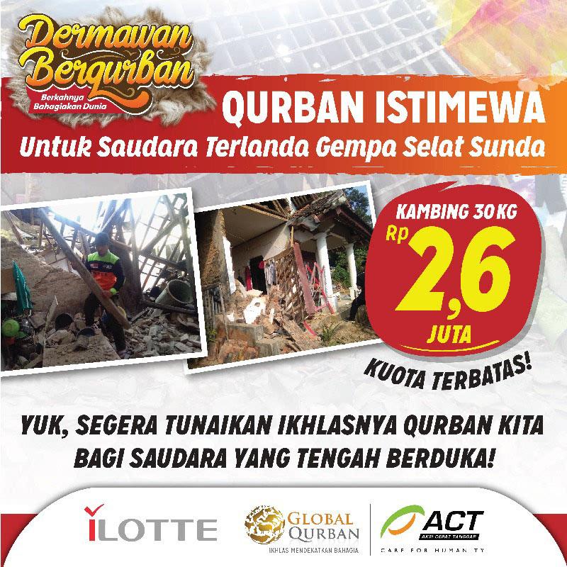 Qurban Saudara Terdampak Bencana di Banten