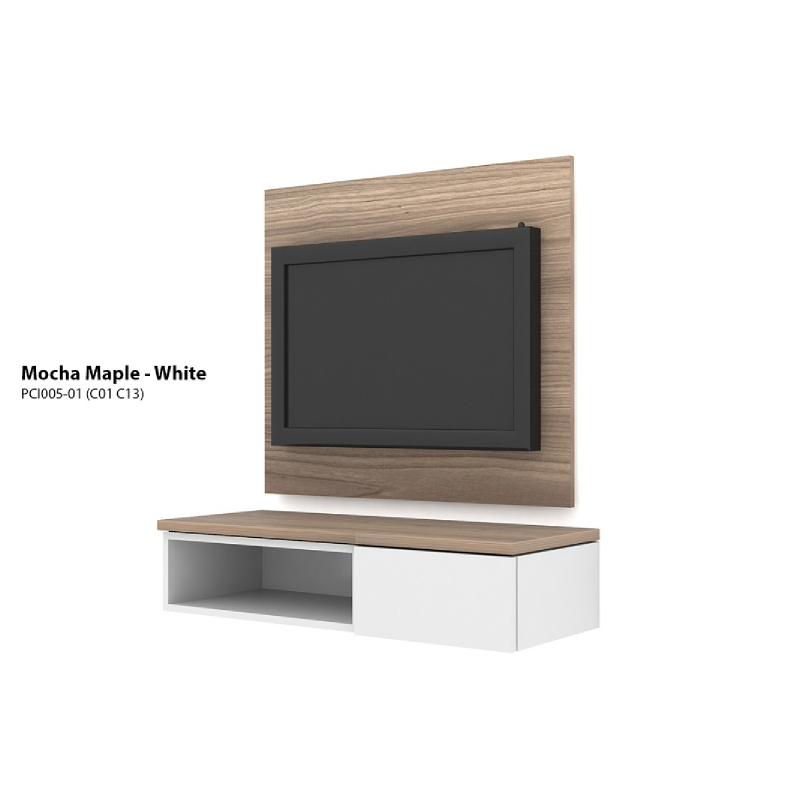 Case Cabinet TV Panel Mocha Maple - White PCI004-04-C13-C01