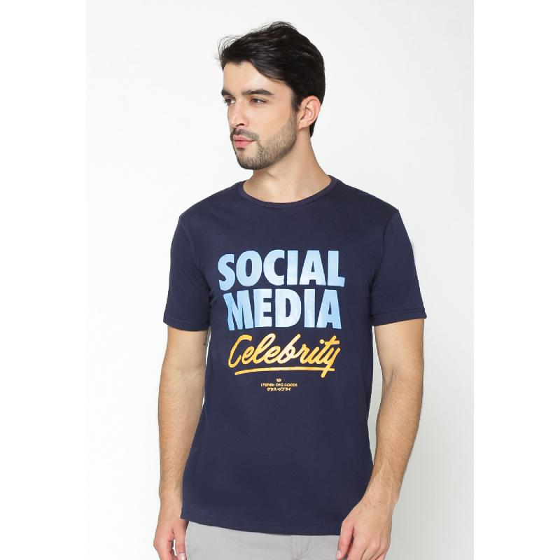 17Seven Social Men Tshirt Navy