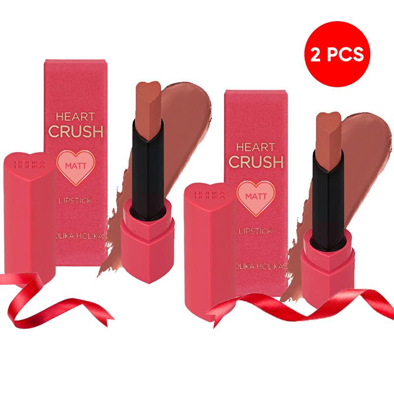 Holika Holika Heart Crush Lipstick Power Matt BE05 New Nude (2pcs)