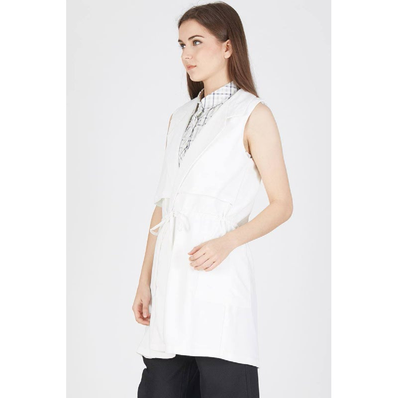 Prunella Basic Vest White