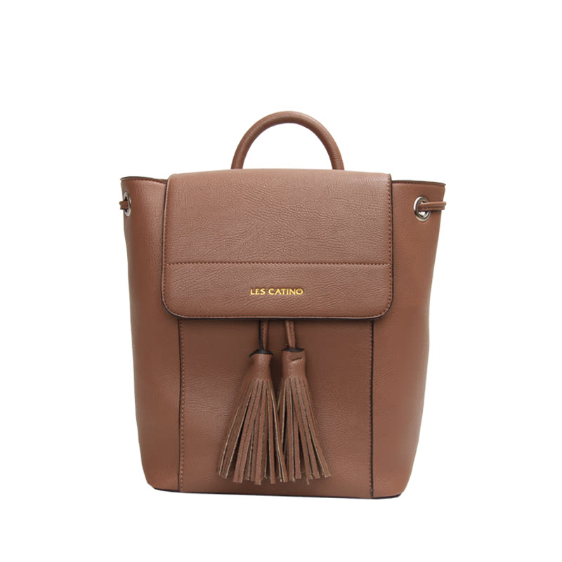 Les Catino W. Tessa Backpack Cocoa Brown