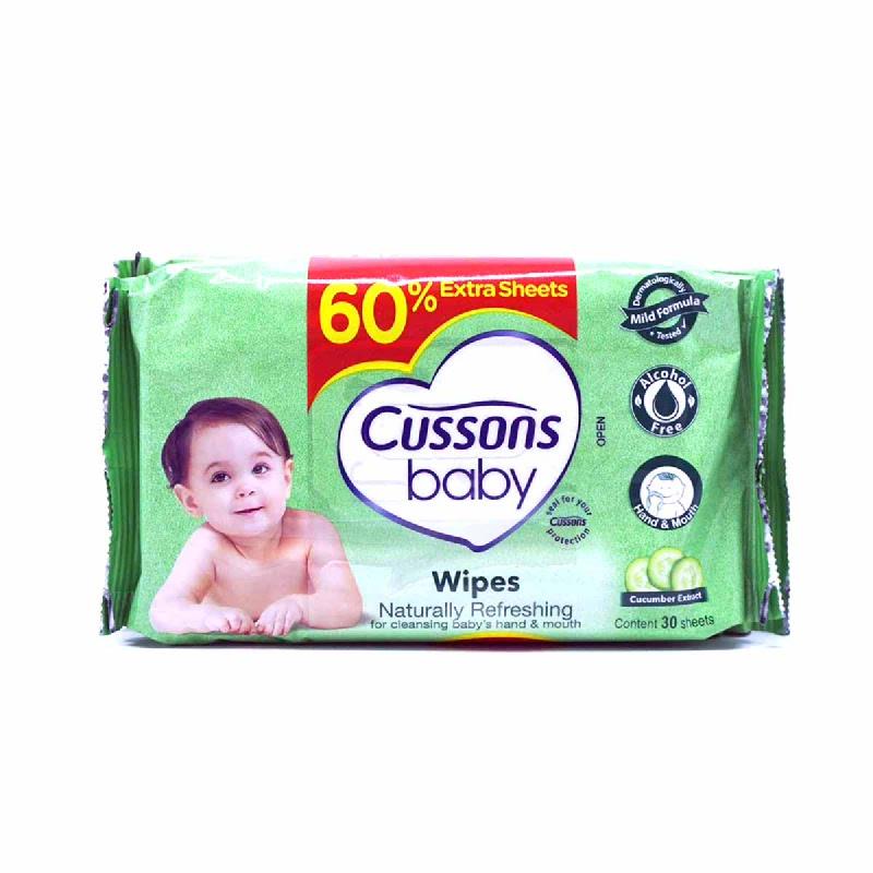 Cussons Tisu Basah Bayi Naturally Refreshing 50 Sheet