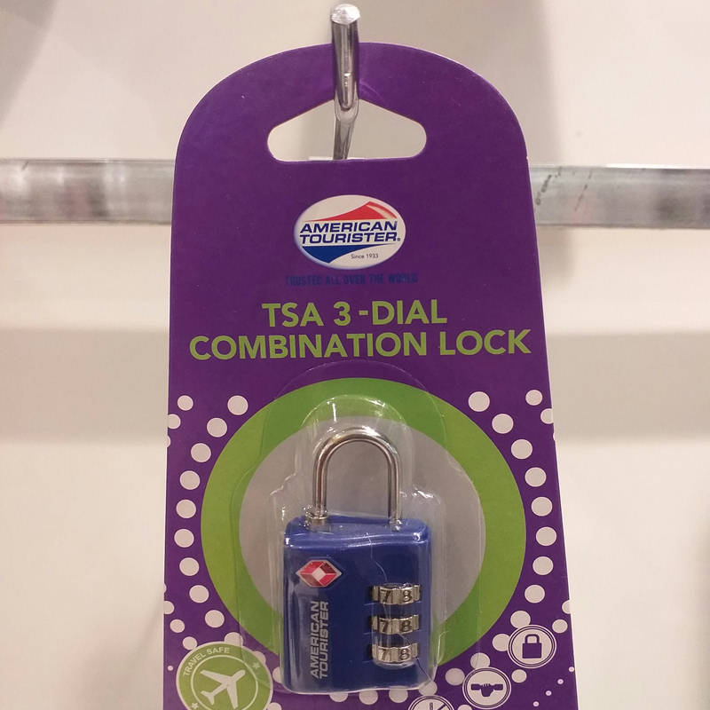 American Tourister Z19-01006 TSA 3 Dial Combi Lock Blue