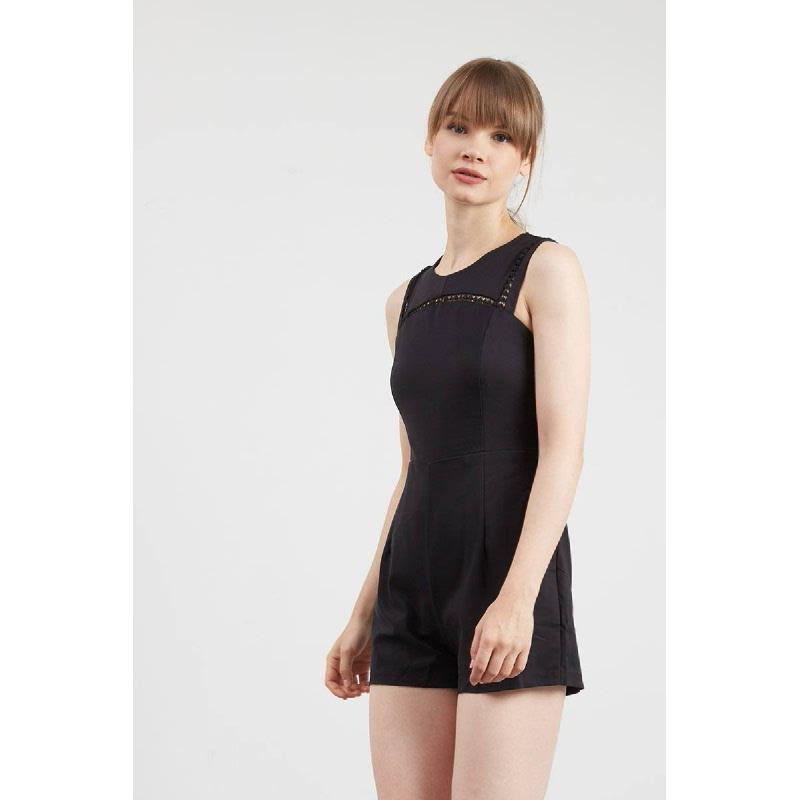 Gwen Kelster Playsuit in Black