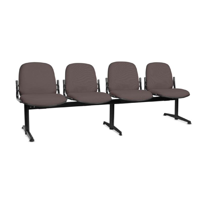 HighPoint Kursi Tunggu HP Series - HP418 Brown - PVC Leather