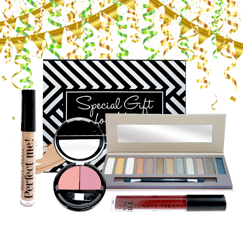 Beauty Hampers (Naked Eyeshadow Set 1 + Duo Blush No 2 + True Matte Lip Color No 12 + Perfect Me Liquid Concealer)