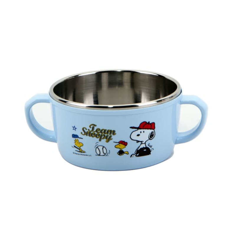 LOCK & LOCK Snoopy Baseball Stainless Weaning Bowl With Handle LSP479
