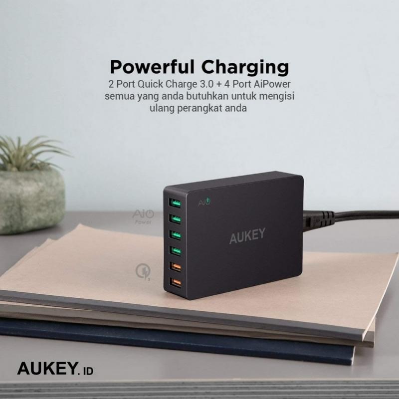 Aukey Charger 6 Ports 60W QC 3.0 & AiQ - 500078