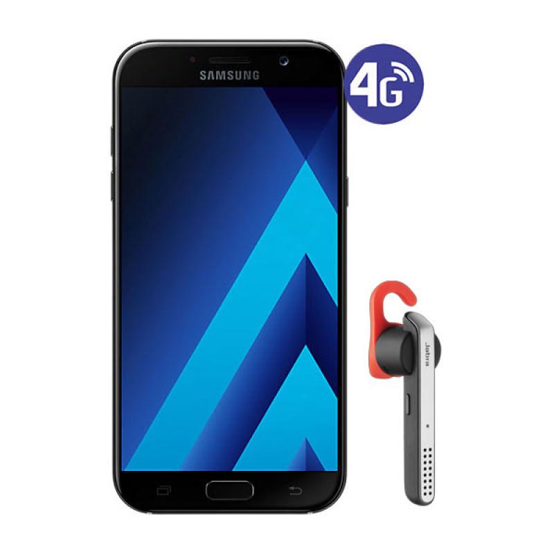 Samsung Galaxy A7 2017 - Hitam Free Jabra Stealth Birutooth Headset