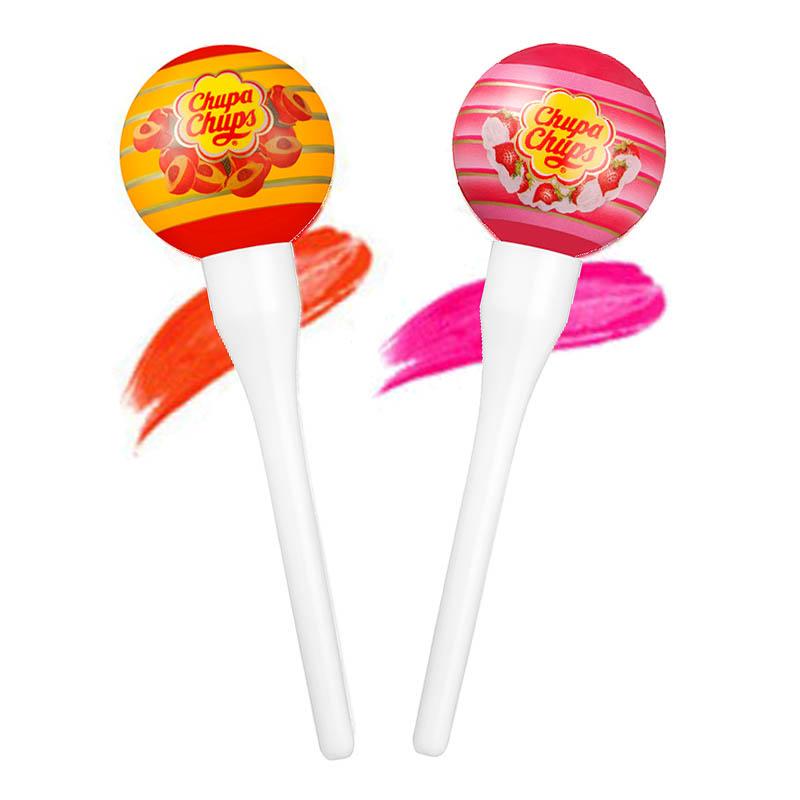 Chupa Chups Lip Locker Peach 7g + Strawberry and Cream 7g