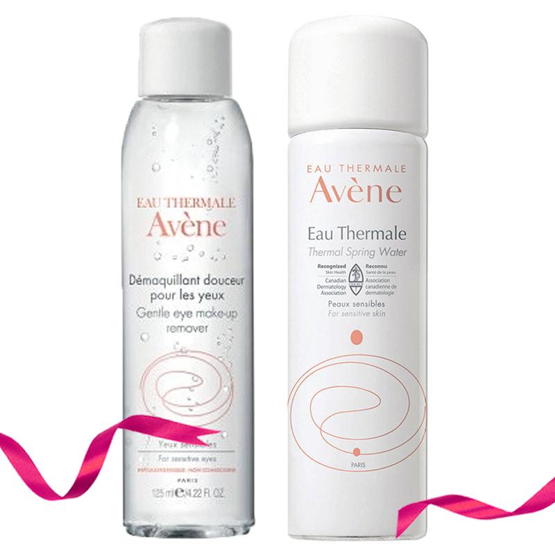 Avene Gentle Eye Make Up Remover Essential Care 125 ml + Avene Thermal Spring Water Spray 50 ml