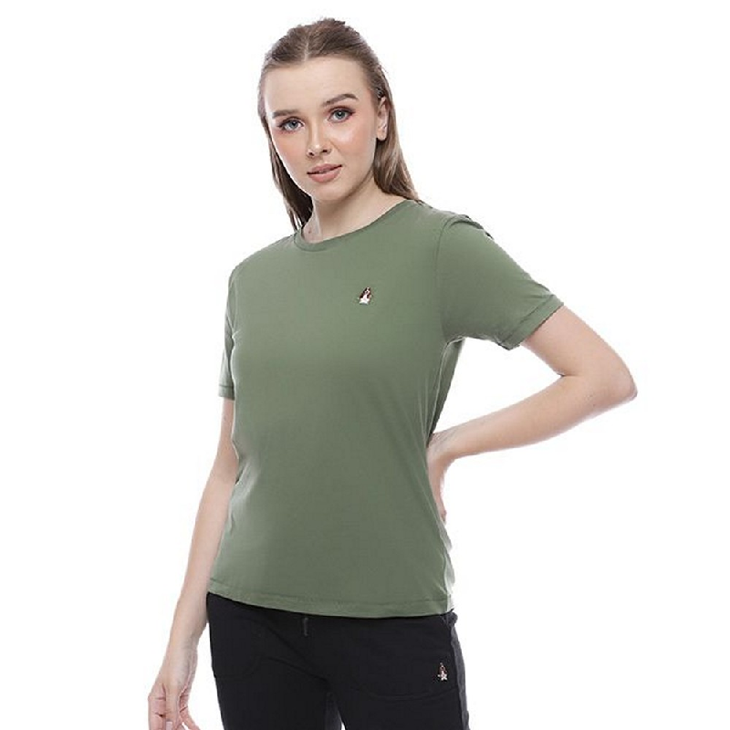 Hush Puppies T-Shirt Suza in Olive