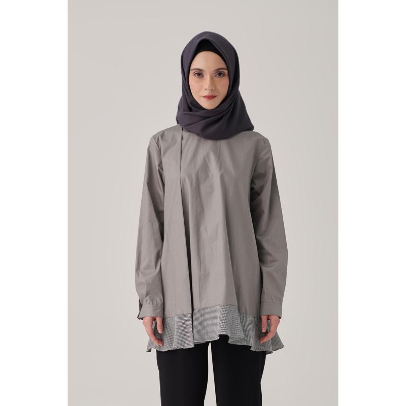 Suqma Petunia Blouse Evening Shadow Grey