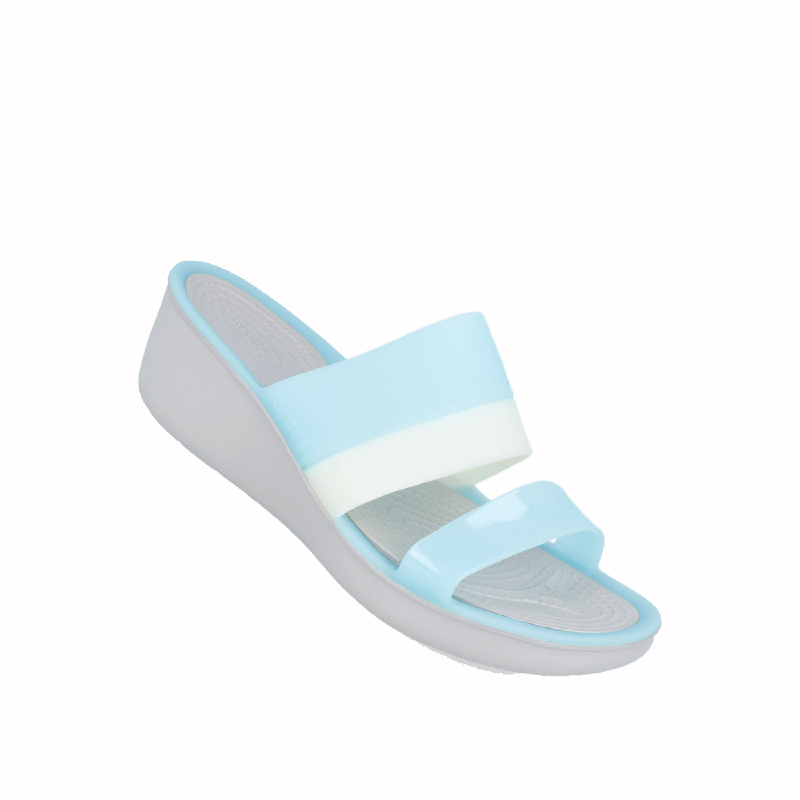 Crocs Color-Block Mini Women Wedge Sandal Sky Blue