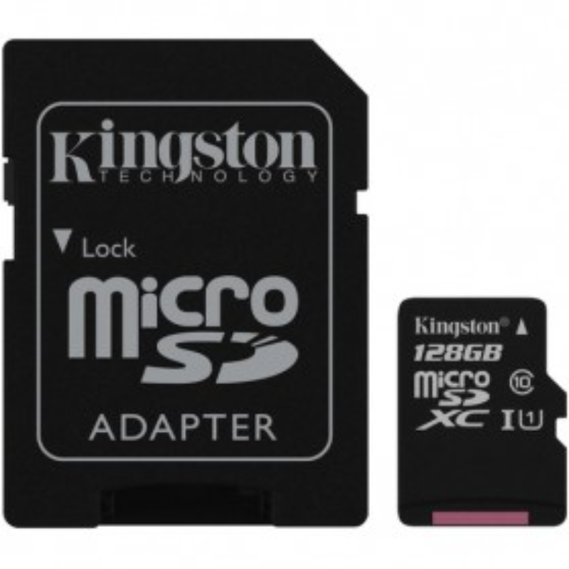 KINGSTON CANVAS SELECT 128GB CLASS 10 + ADAPTER (SDCS 128GB)