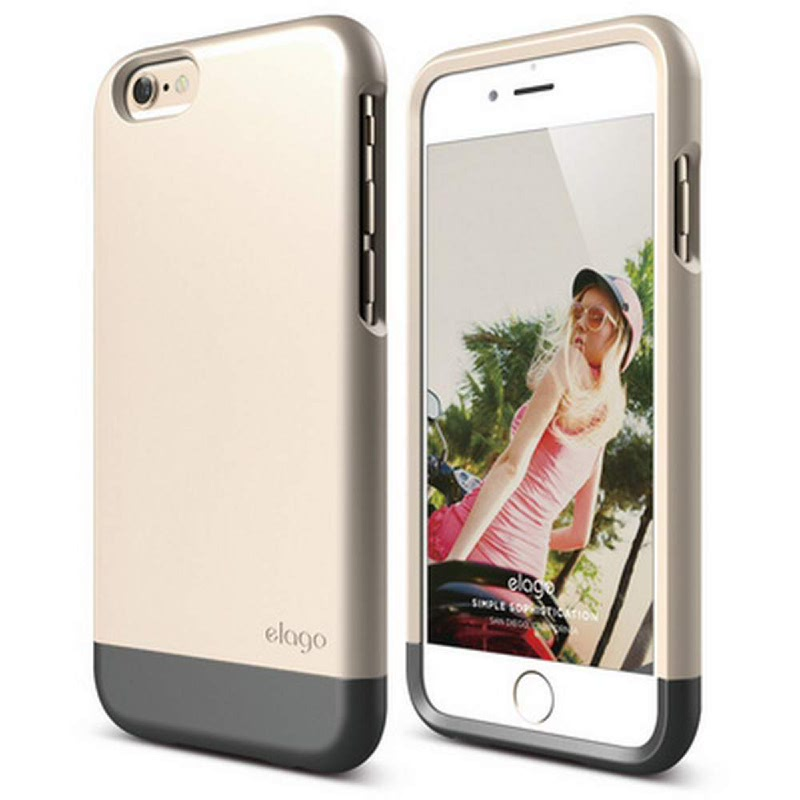 Elago Glide Case for iPhone 6 - SF Champagne Gold+ Metallic Dark Gray