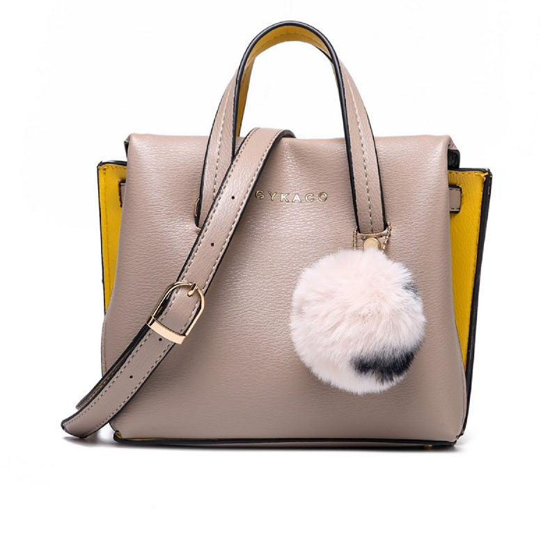 GYKACO LUMENA Khaki - Tas Wanita Hand bag - Fashion Top Handle Bag (Import)