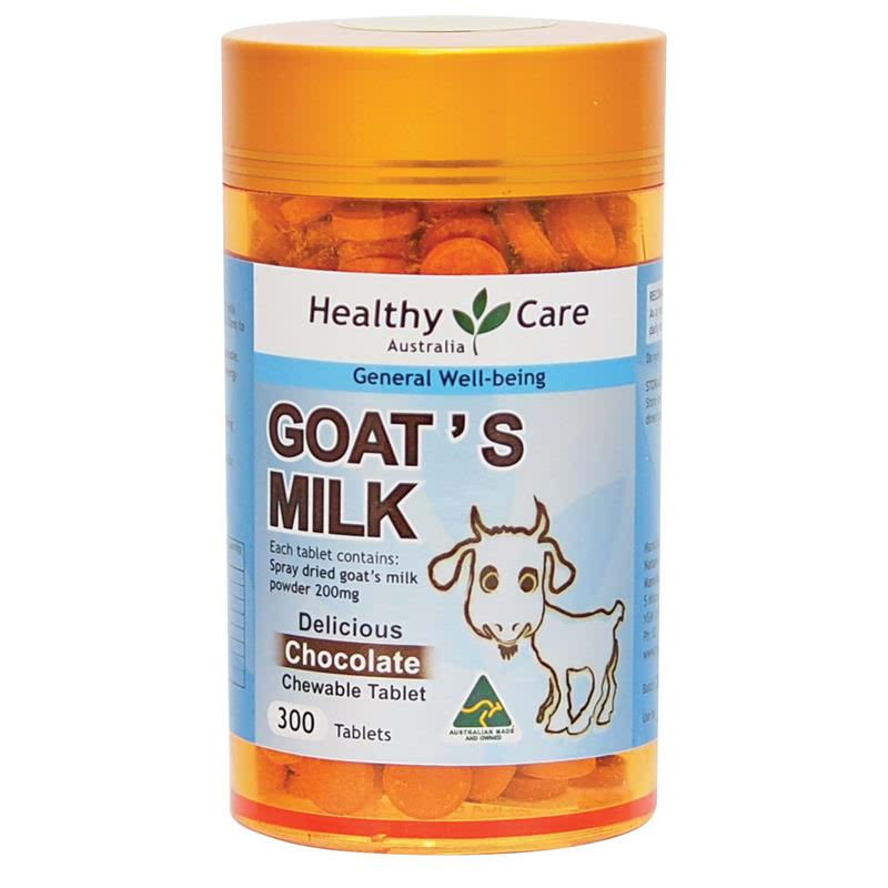 Healthy Care Goats Milk Chewable 300 Tab Chocolate