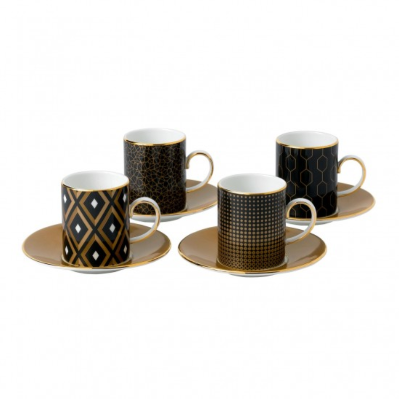 Arris - 5 per 4 Espresso Cups & Saucers Gift Boxed