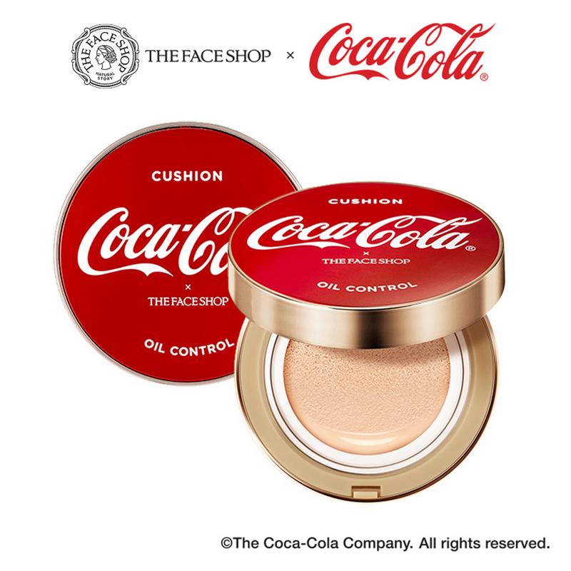 The Face Shop Coca Cola Oil Control Water Cushion SPF50+ PA+++ No. 203