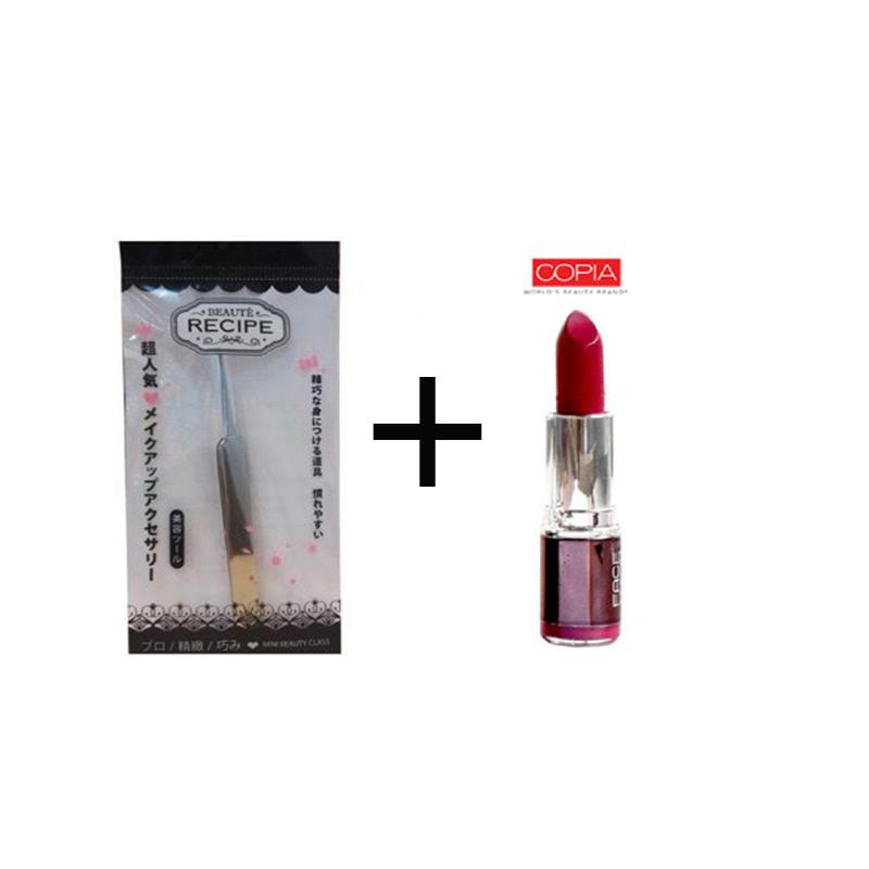 Beaute Recipe Acne Clip 1663 + Be Matte Lipstick Vivi Brick