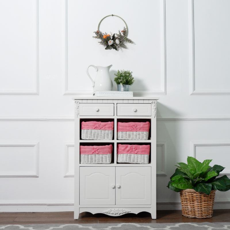 The Olive House  Jasmine 8 Drawer (White)