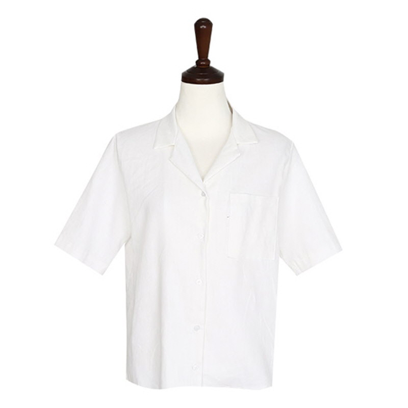 Basic Linen Shirt - IVORY