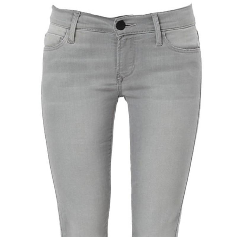 Mid rise zipper skinny