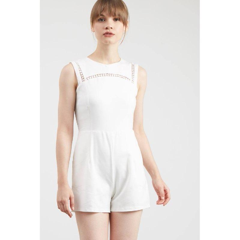 Gwen Kelster Playsuit in White
