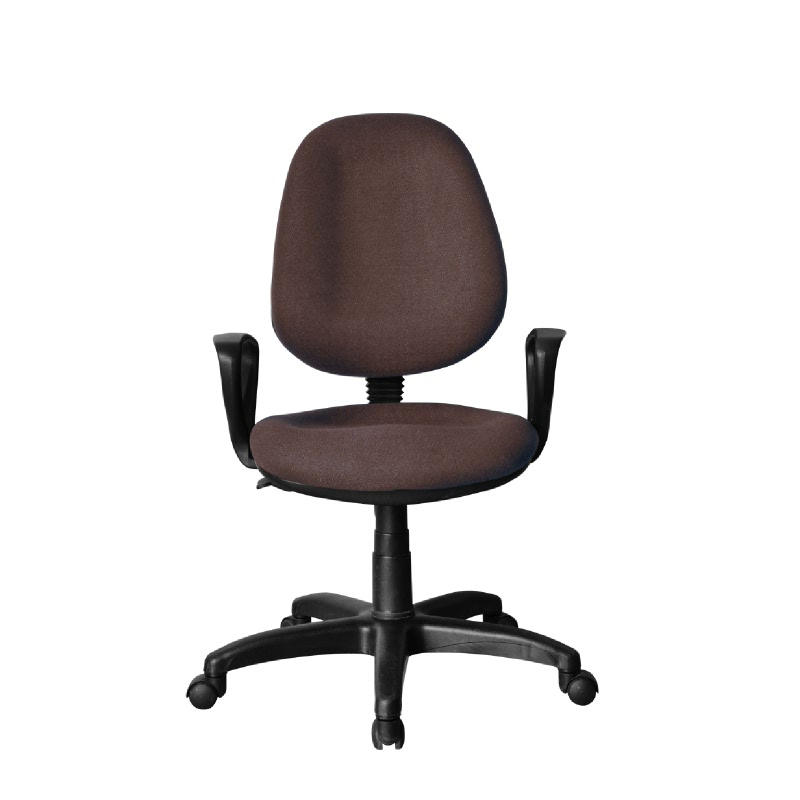 HighPoint Kursi kerja kursi kantor BK Series - BK26 Brown - PVC Leather