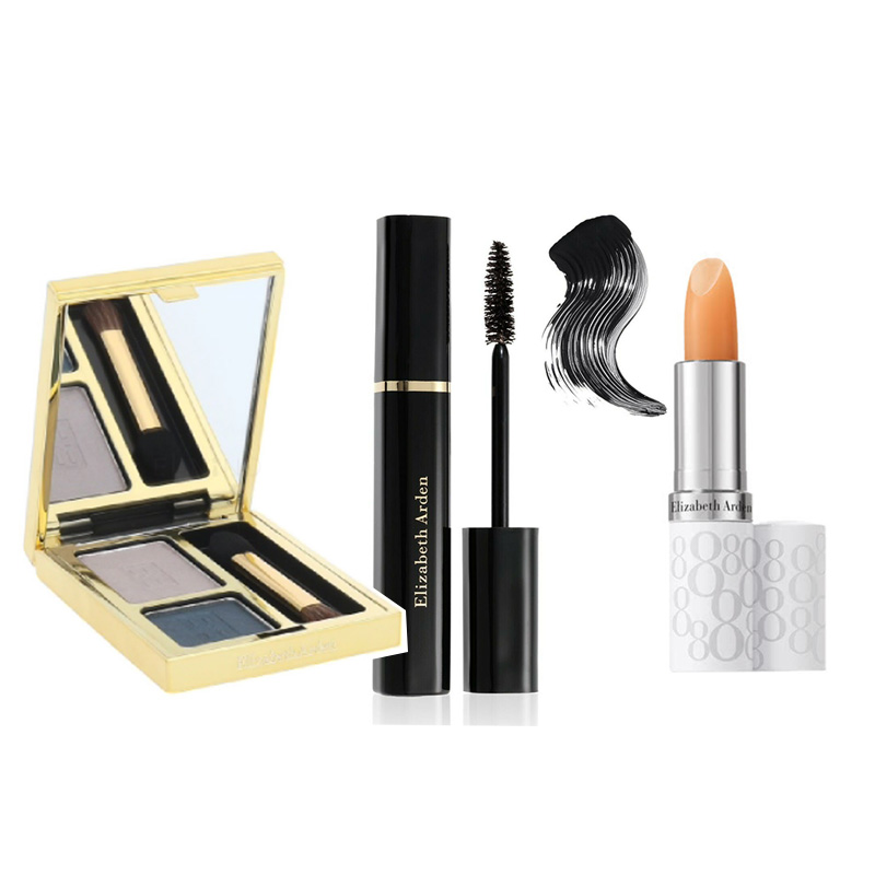 Elizabeth Arden Beautiful Color Duo Eyeshadow - Misty Teal+Free Double Density Mascara Black+Free Eight Hour Lipcare Stick SPF 15