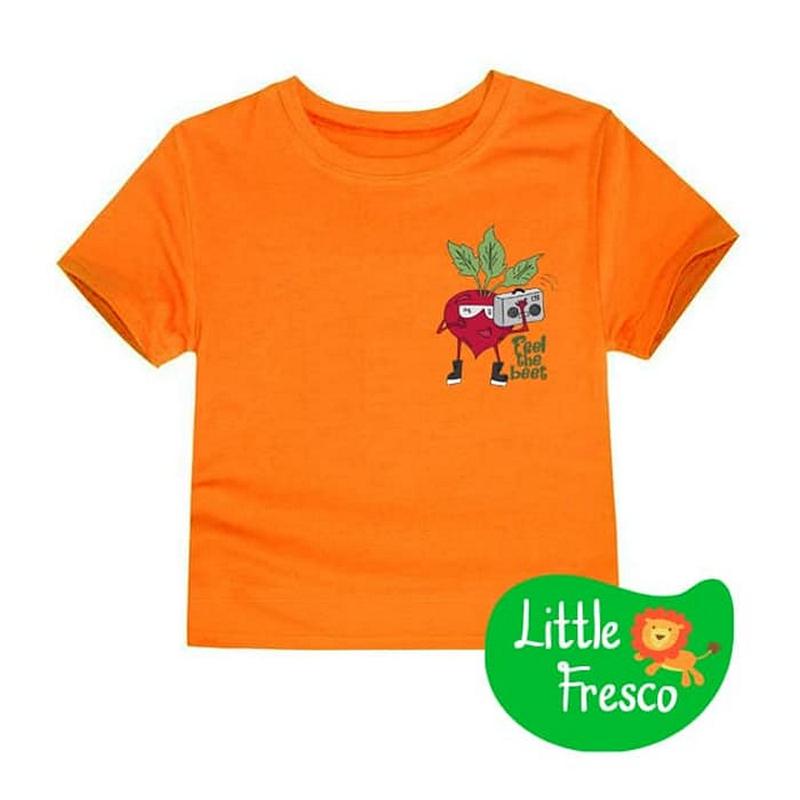 Little Fresco - Kaos Anak Feel The Beet Oranye