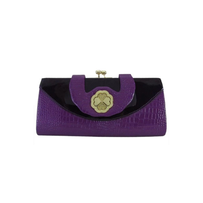 LnC Gardenia Clutch - Purple