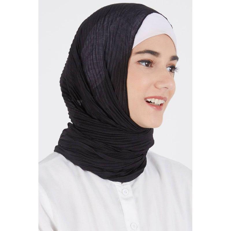 Darla Pashmina Plain Black