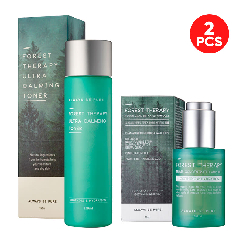 Always Be Pure Forest Therapy Repair Concentrated Ampoule 50ml + Ultra Calming Toner 150ml