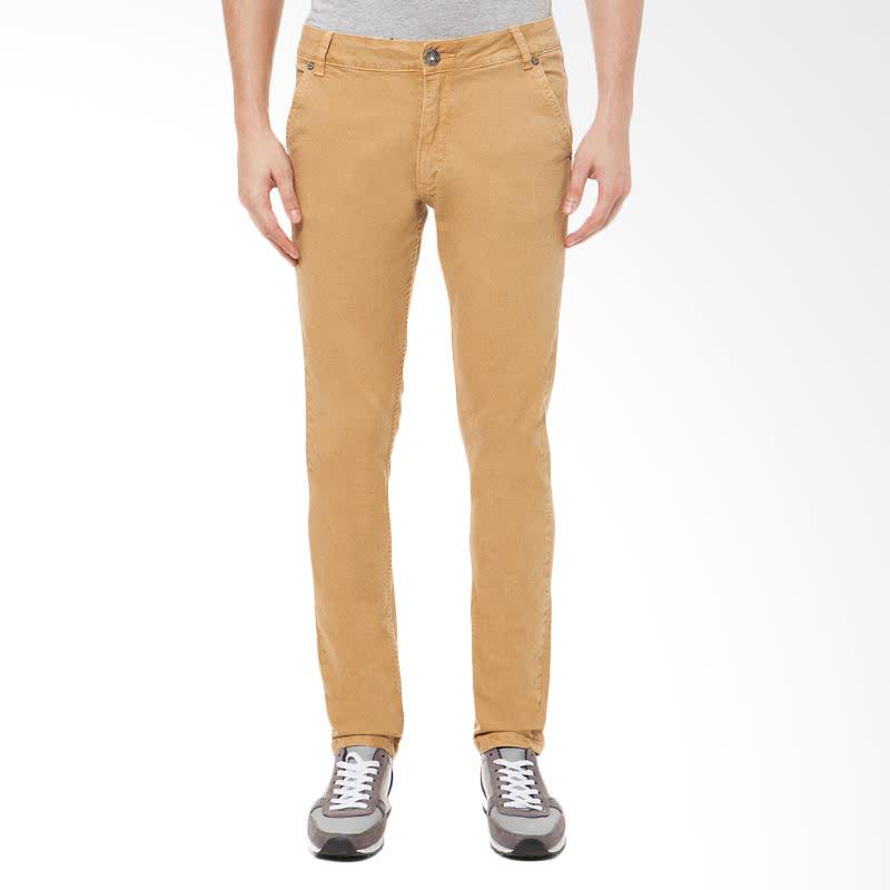 Men Chinos Tungsten Slim Comfort Fit Celana Panjang Pria - Krem