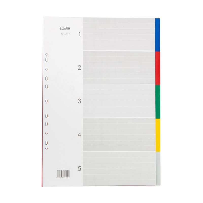 Bantex PP Colour Divider A3 Potrait (5 pages) -6017 00