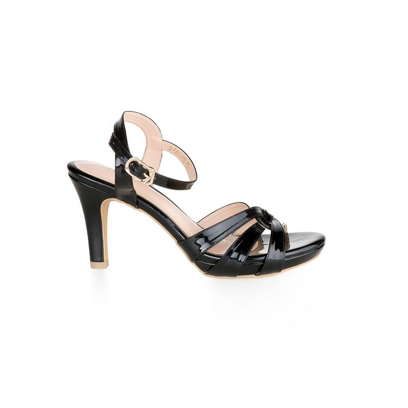 Armira Platform Heels Weave Sandal Black
