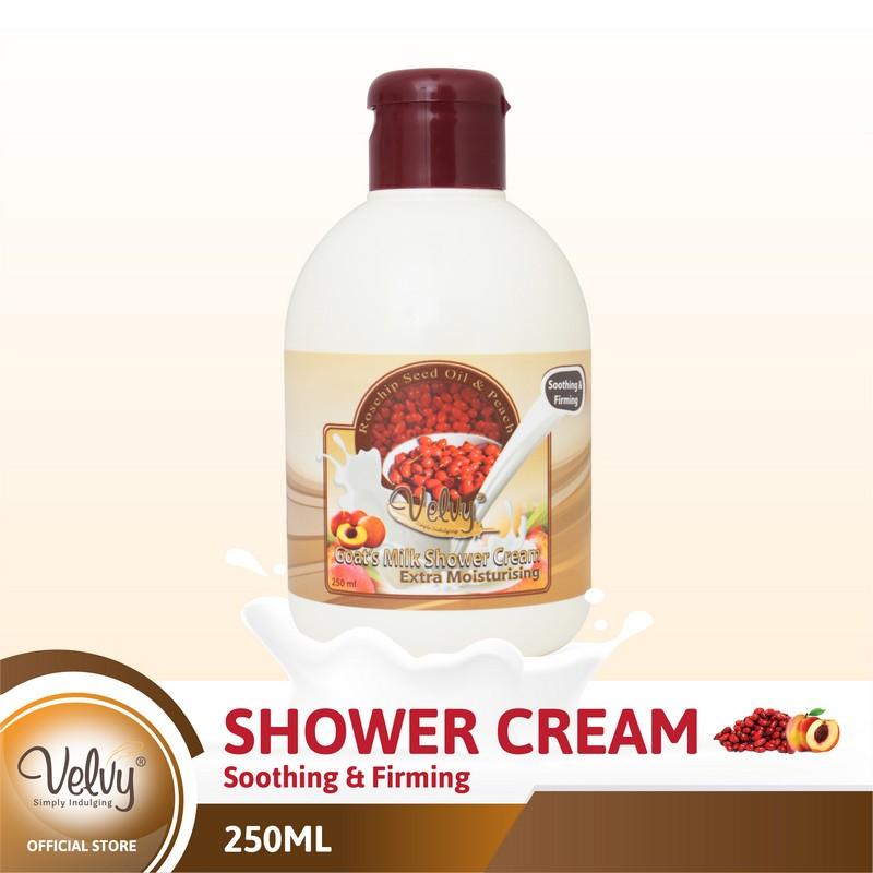 Velvy Gm Shower Cream Rosehip & Peach 250Ml