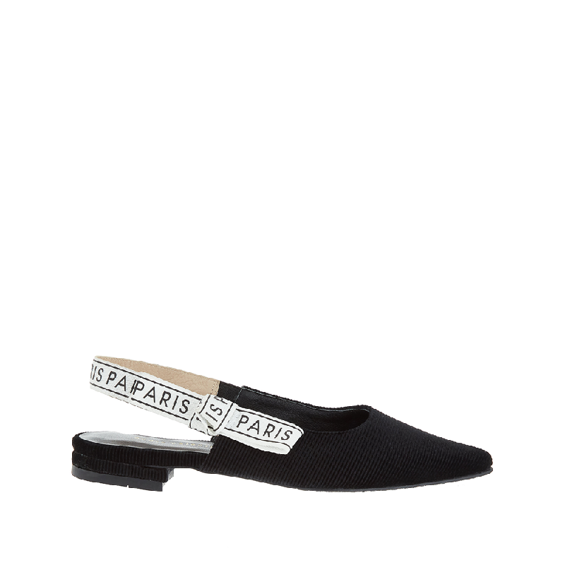 Andre Valentino Penny Flat Shoes Black